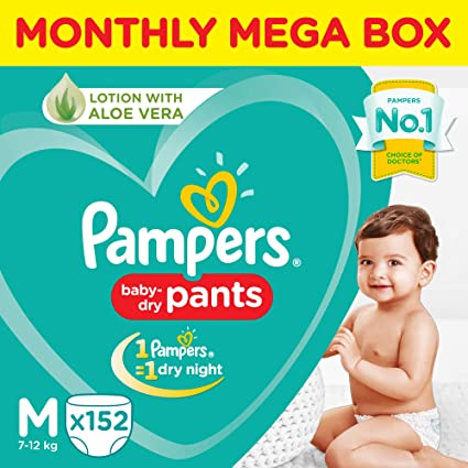 buy pampers new monthly box pack diapers pants medium 152 count