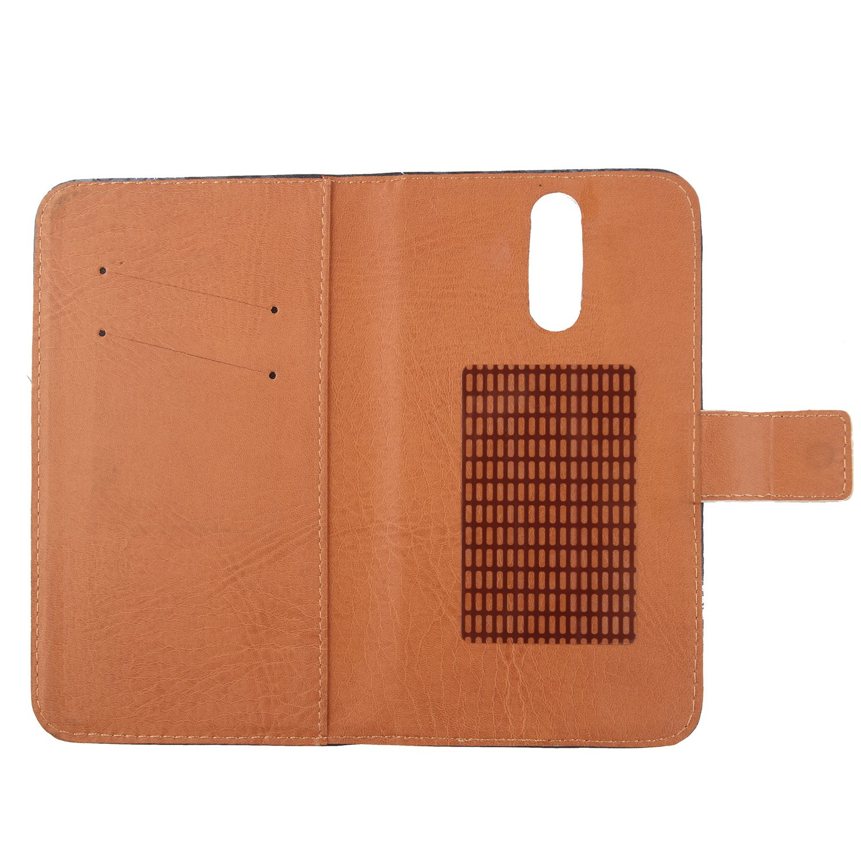 Gukas Flip PU Billetera Design para Wolder WIAM #65 5.5