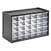 Stanley 1-93-980 Caja de Almacenamiento para Piezas pequeñas con 30 cajones, Negro