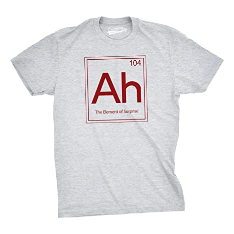 Ah the element of surprise t shirt funny sarcastic science periodic ah the element of surprise t shirt funny periodic table tee 3xl urtaz Gallery