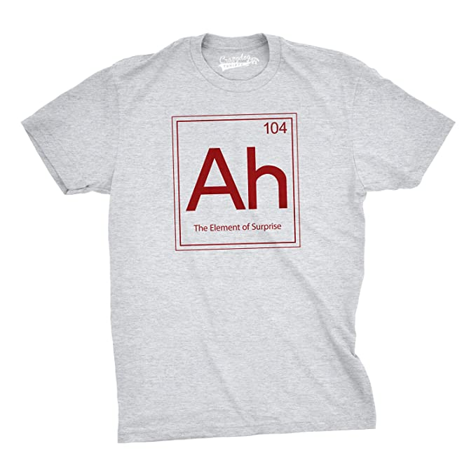 Ah the element of surprise t shirt funny sarcastic science periodic ah the element of surprise t shirt funny sarcastic science periodic table tee amazon clothing urtaz Gallery
