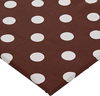 product image for SheetWorld Fitted Pack N Play (Graco Square Playard) Sheet - Polka Dots Brown - Made In USA