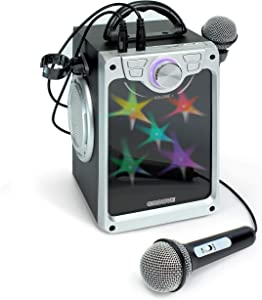Croove Karaoke Machine for Kids - Karaoke Machine for Kids Boys and Girls with 2 Microphones – Bluetooth/AUX/USB Connectivity and Flashing Disco Lights