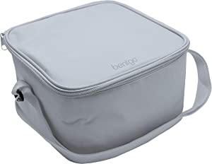Bentgo Classic Bag (Gray) - Insulated Lunch Bag Keeps Food Cold On the Go - Fits the Bentgo Classic Lunch Box, Bentgo Cup, Bentgo Sauce Dippers and an Ice Pack - Works With Other Food Storage Boxes