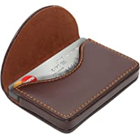 NISUN Leather Pocket Sized Business/Credit /Name Card Holder case Wallet with Magnetic Shut for Gift – Coffee
