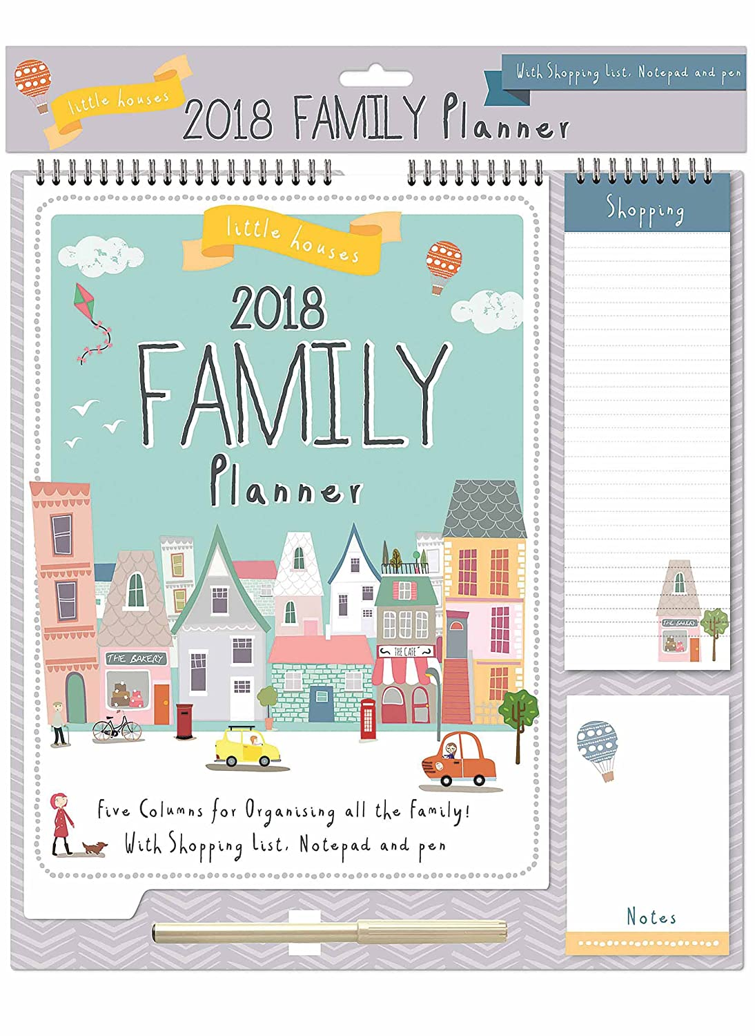 little houses family planner 2018 amazon co uk office products