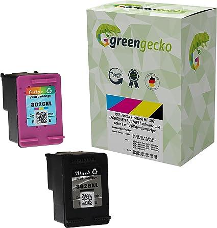XXL Cartuchos de tinta compatibles con HP 302 (F6U68AE / F6U67AE) / más de 100% de capacidad