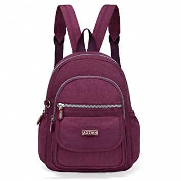 583d3f3166cb AOTIAN Mini Nylon Casual Lightweight Women and Girls Small Backpacks Purse  Daypack Very Handy Bag for