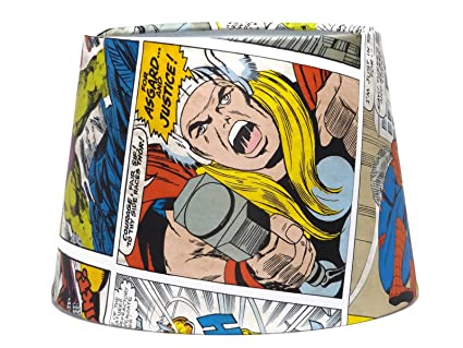 Marvel Comic Light shade lampshade Spiderman Iron Man Captain ...