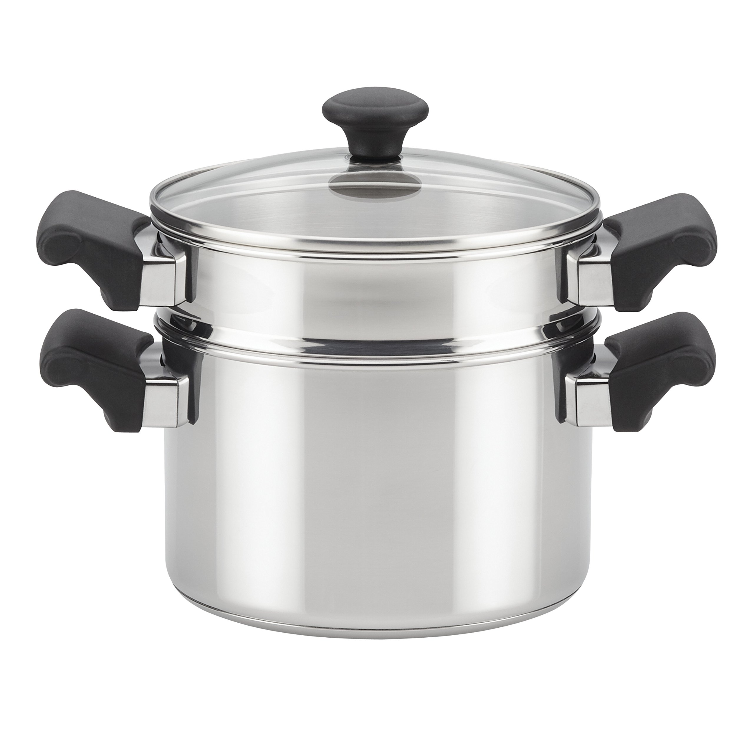 Farberware Classic Traditions Stainless Steel Stack 'N' Steam Covered Saucepot and Steamer, 3-Quart