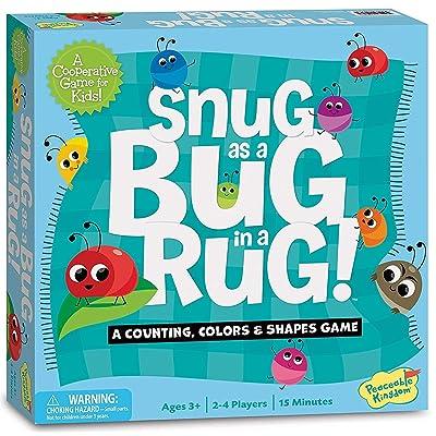 Peaceable Kingdom Snug as a Bug in a Rug Award Winning Preschool Skills Builder Game for Kids: Toys & Games