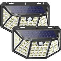 Luz Solar Exterior 212 LED Foco Solar Exterior Impermeable con Sensor de Movimiento y…