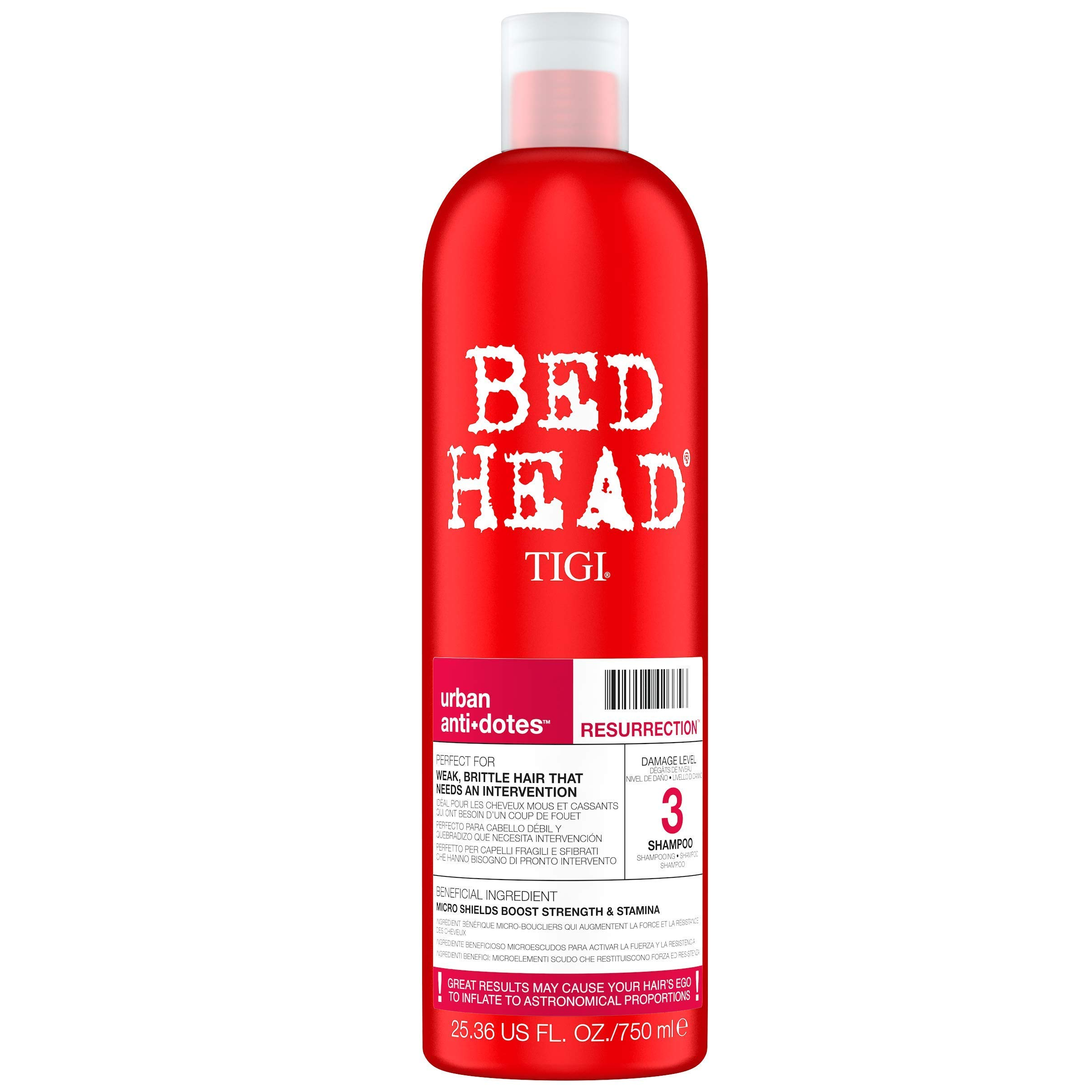 Bed Head by Tigi Urban Antidotes Resurrection Shampoo for Damaged Hair 750 ml