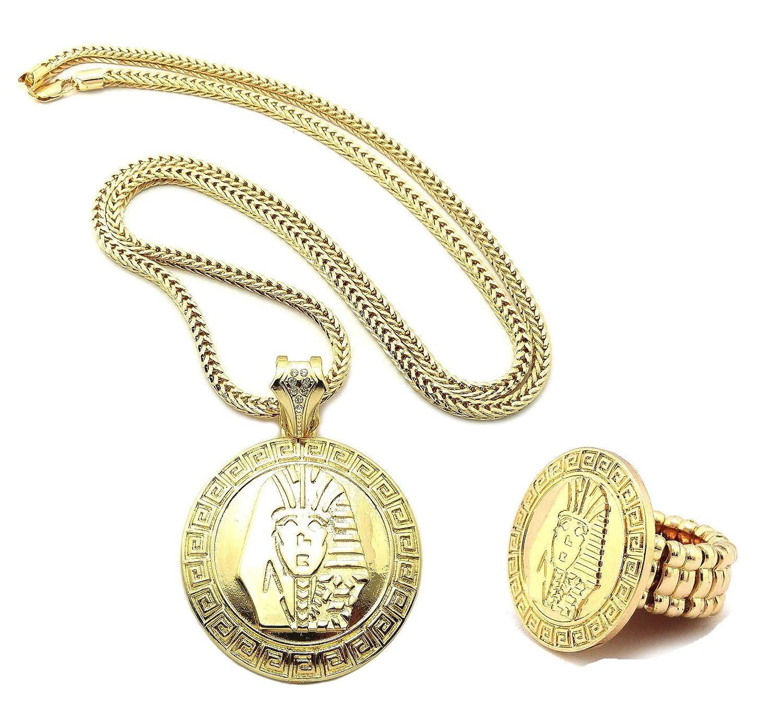 Amazon gold tone mens pharaoh king tut pendant necklace ring amazon gold tone mens pharaoh king tut pendant necklace ring set xp897gfc xr51g jewelry aloadofball Gallery