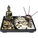 Tabletop Zen Garden Meditazione Sabbia Rocce Rake Feng Shui Decor