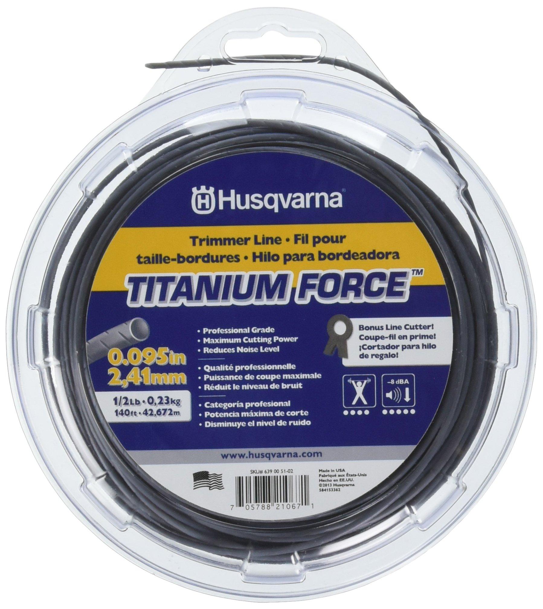 Husqvarna 639005102 Titanium Force String Trimmer Line .095-Inch by 1/2-Pound Donut