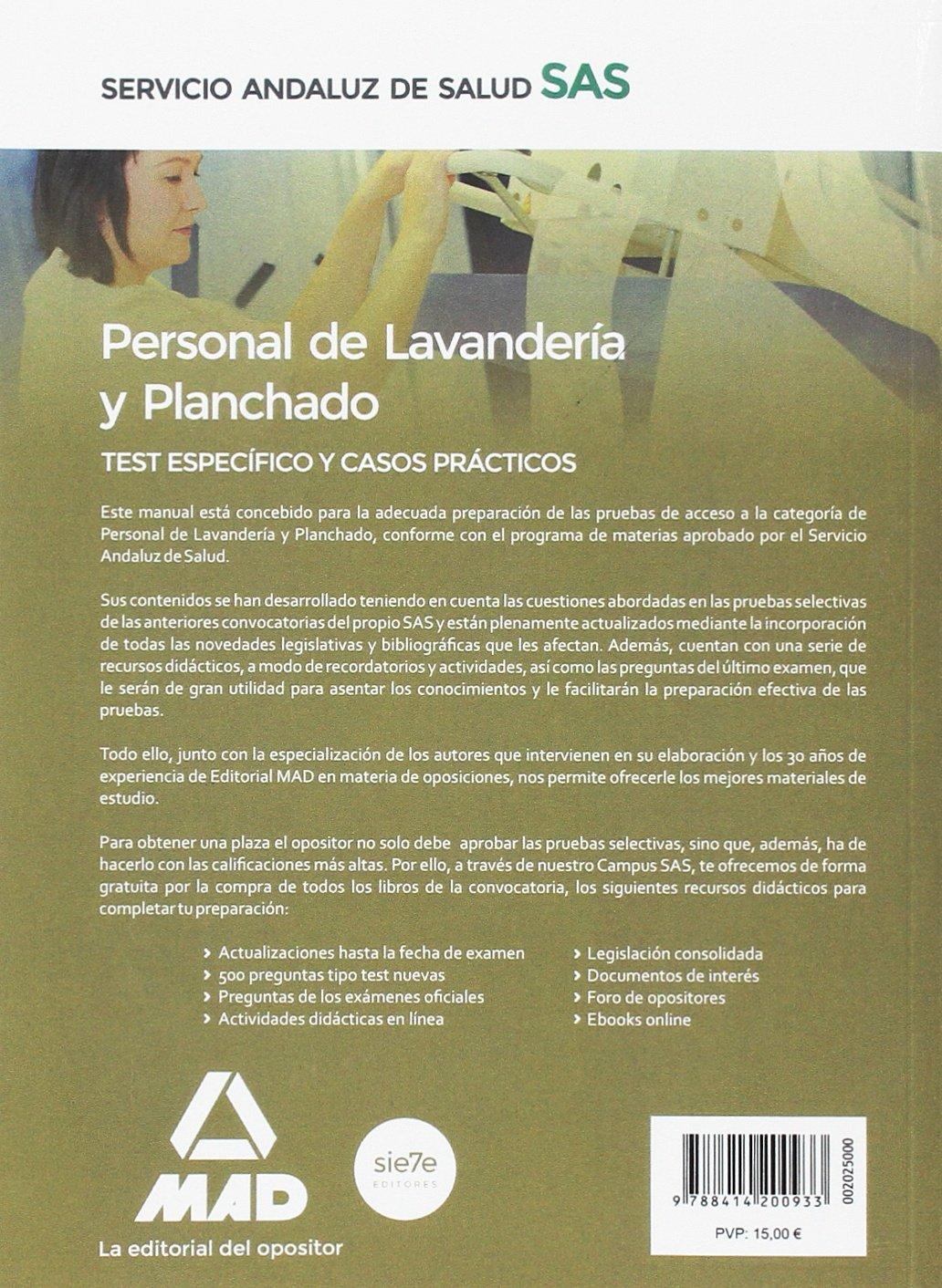 Personal de Lavanderia-Planchado del SAS. Temario comun y Test (Spanish Edition)