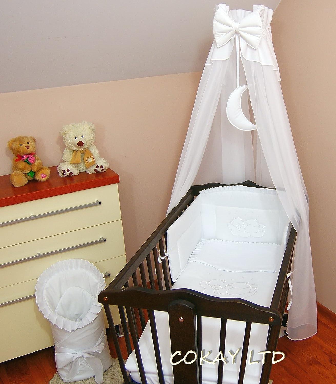 10 pcs Crib Bedding Set /Bumper/sheet/duvet/CANOPY /Free Standing Canopy Holder-WHITE COKAY LTD