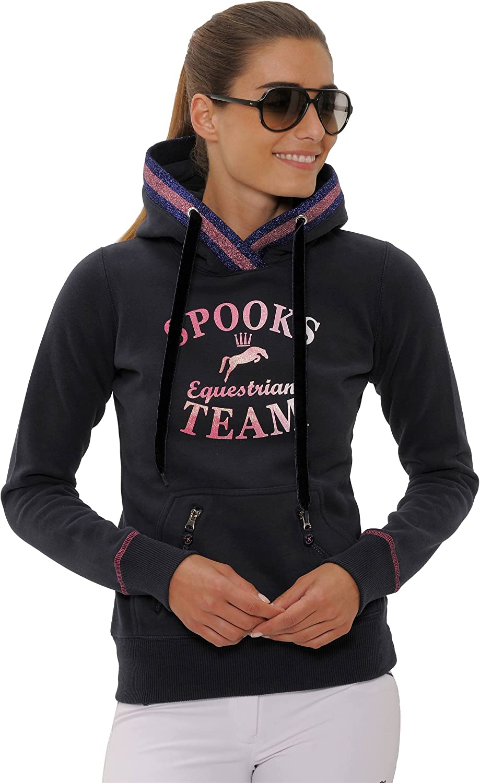 Bedruckt Pullover SPOOKS Damen Hoody sportlich Kaputzenpulli Langarm Kapuzenpollover Pulli Maril Hoody Hoodie