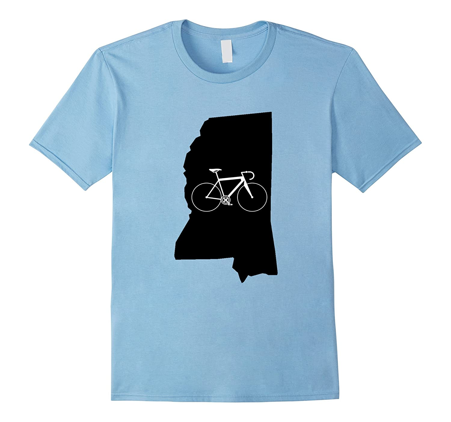 Bicycle Mississippi Shirt, Cyclist Tee, State Road Bike-T-Shirt