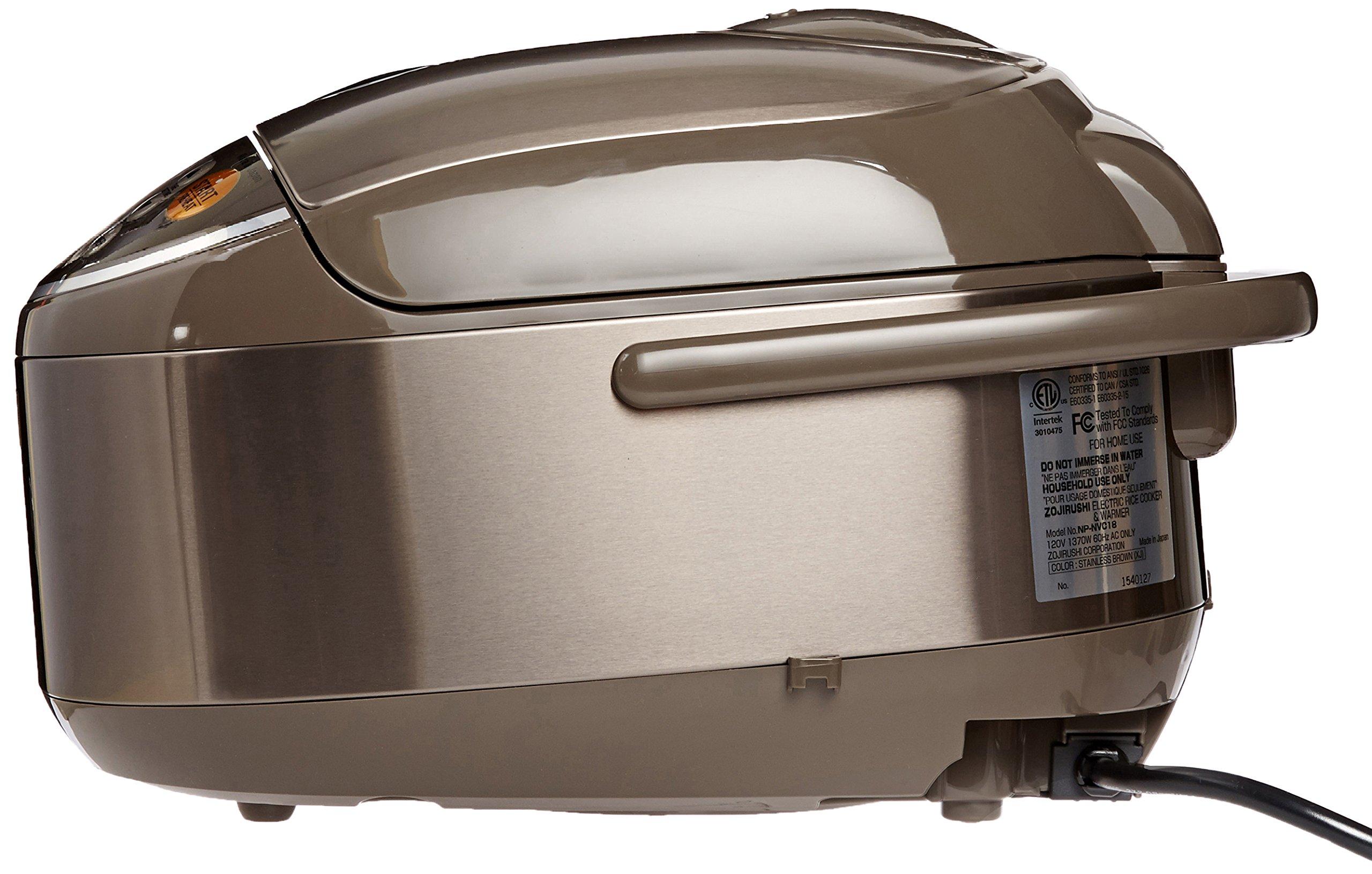 Zojirushi Induction Heating Pressure Rice Cooker & Warmer 1.8 Liter, Stainless Brown NP-NVC18 by Zojirushi (Image #3)