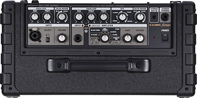Roland Cube Street Battery Powered Portable Stereo amplifier, black