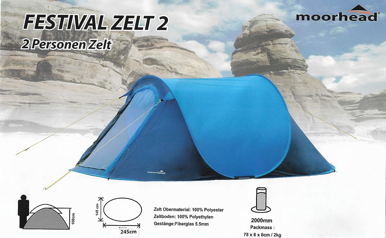 Outdoor 2 Personen Zelt Wurfzelt Festival Zelt Festival Moorhead