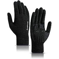 HONYAR Warme antislip 360° touchscreen winterhandschoenen voor mannen en vrouwen, zachte voering, elastische manchetten…
