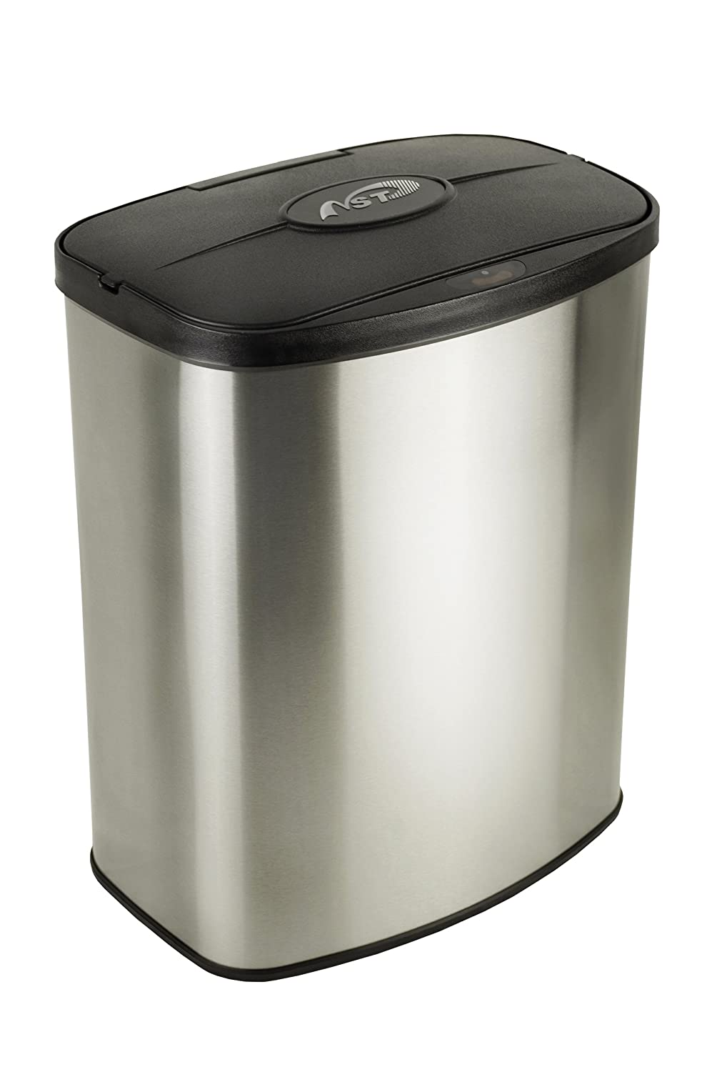 nine stars dzt 8 1 infrared touchless stainless steel trash can 2 1 gallon ebay. Black Bedroom Furniture Sets. Home Design Ideas