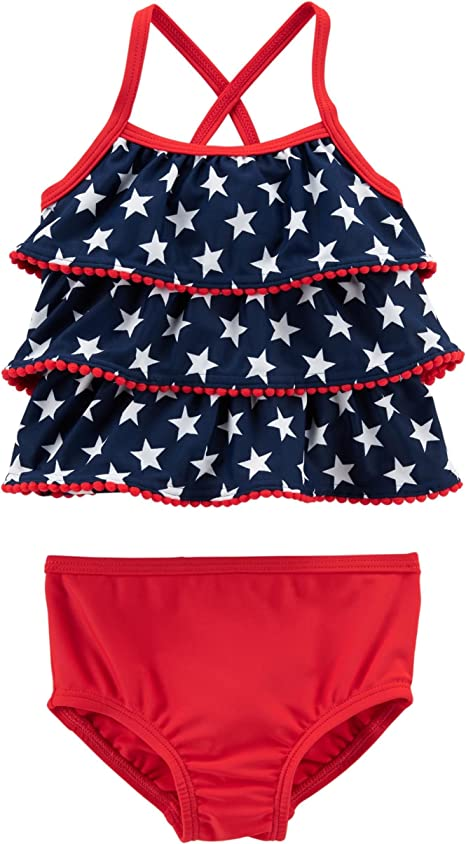 Red//White//Blue, 5t Carters Toddler and Baby Girls Swimwear Set