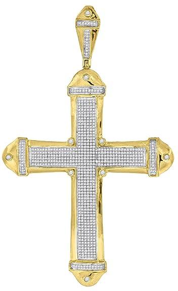 156 carat mens micro pave diamond cross pendant amazon 156 carat mens micro pave diamond cross pendant aloadofball Gallery