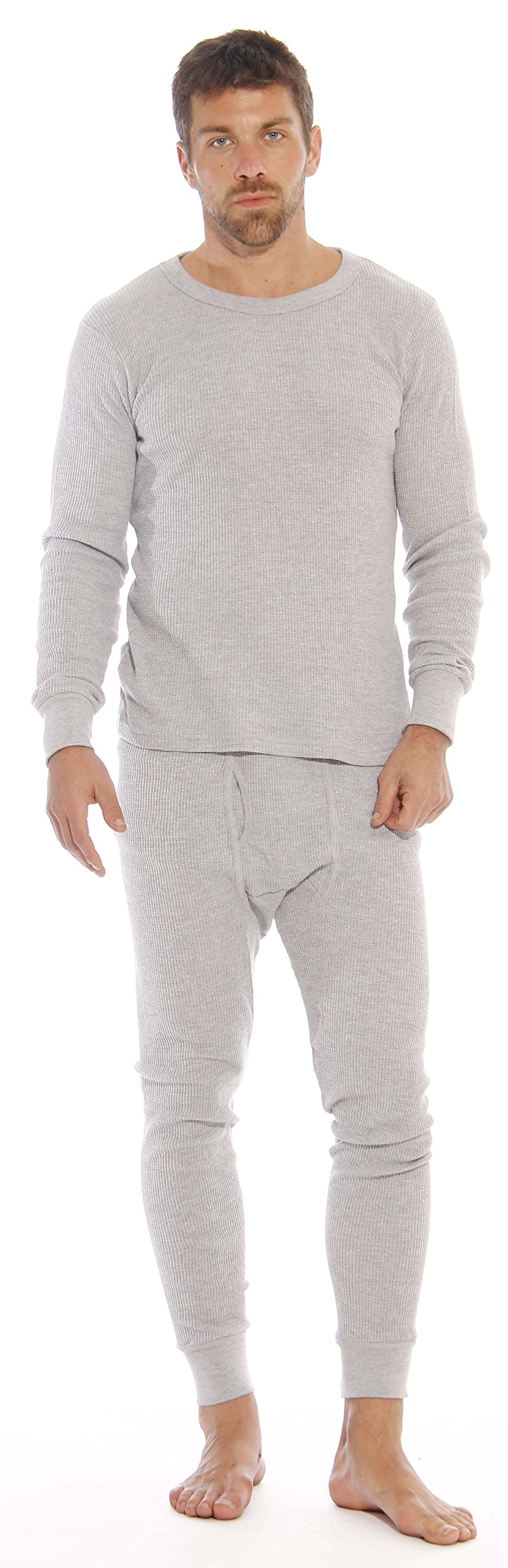 At The Buzzer Thermal Underwear Set For Men 95962-Grey-L
