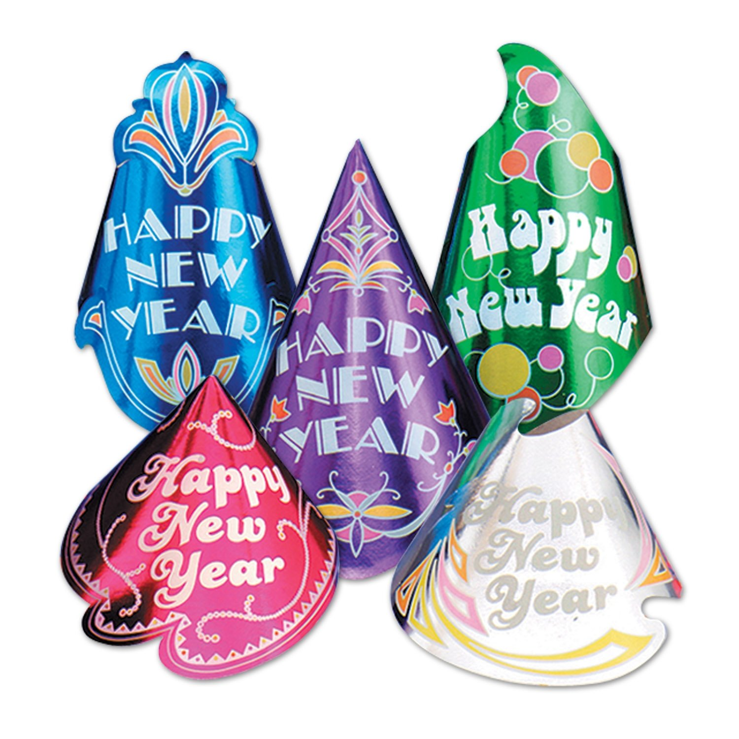 Beistle 88825-50 50-Piece Champagne Hat Assortment The Beistle Company