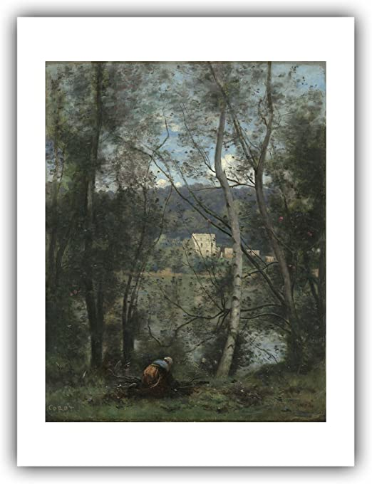 Camille Corot French Ville D/'Avray Old Painting 12X16 Inch Framed Art Print