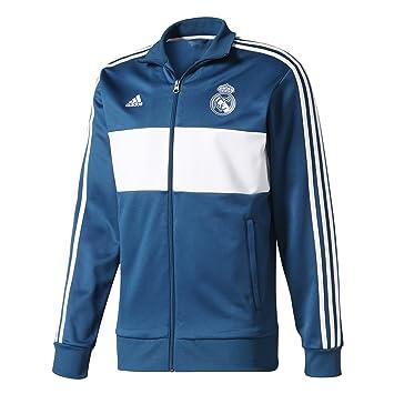 adidas Real Madrid Three-Stripes fútbol Chaqueta 2017/18 ...