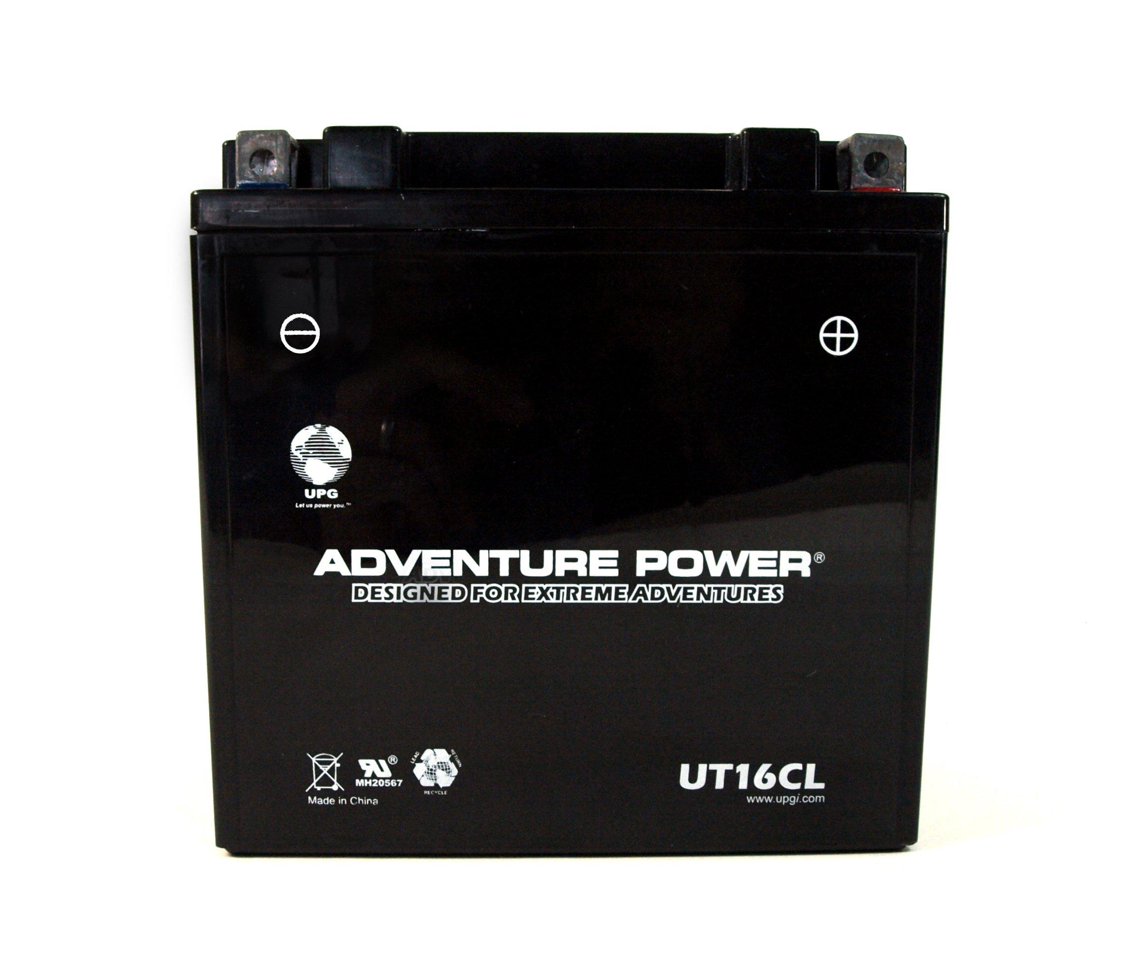 UPG UT16CL Adventure Power Power Sport AGM Series Sealed AGM Battery