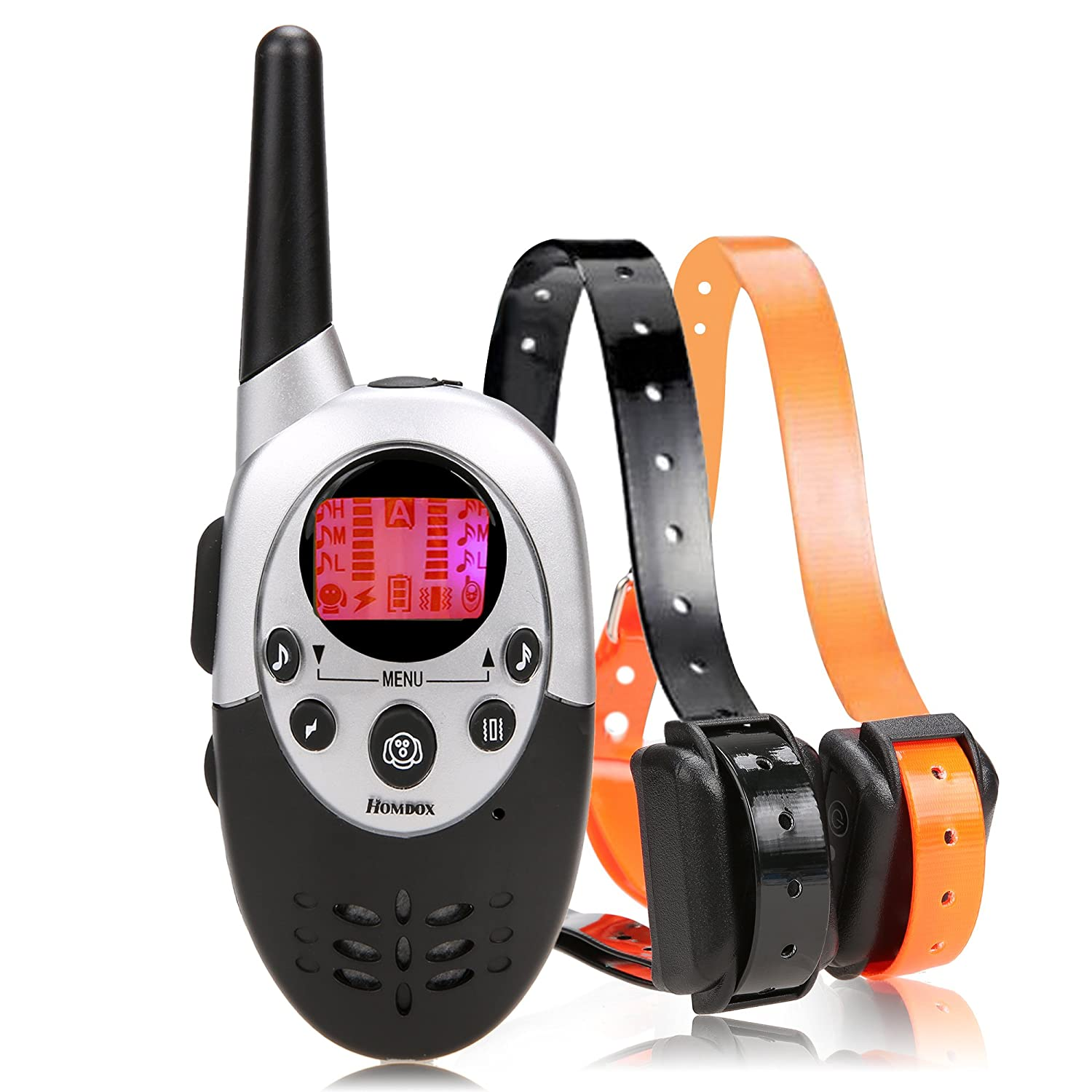 Homdox Water Proof Rechargeable Adjustable Pet Training Collars Water Resistant Dog Training Collar Adjustable E Collar with Wireless Remote, Black *AM003213