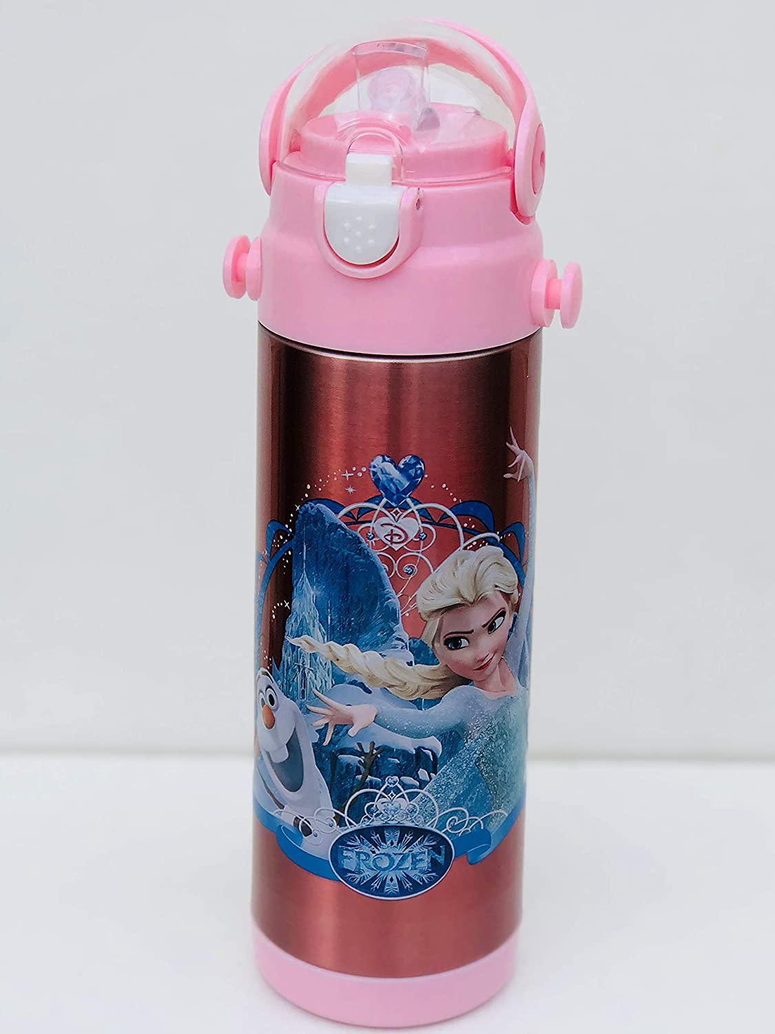 Character Kids Water Bottle Disney Frozen 500 ml Bottle for School, Flask Bottle for Sports, Camping, Cycling, Staying Hydrated, Favourite Kids Character Tong Lok