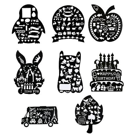 KMALL Set 8pcs di Stencil per La pittura/Scrapbooking/Pareti ...