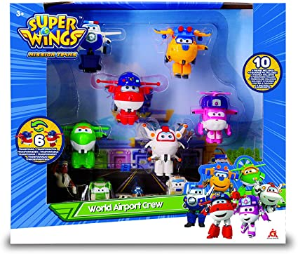 Super Wings Set mit Jett Paul Kim Dizzy Flugzeuge