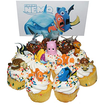 Finding Nemo Cake Toppers Collectible Figures Set Disney World Theme Parks NEW