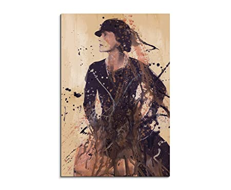 37656cdf9f4 Coco Chanel 90 x 60 cm Canvas Wall Art - Ready to Hang Wall Art Aqurell Art  After Painting by Paul Sinus  Amazon.co.uk  Kitchen   Home