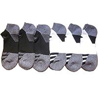 Adidas Men 's no Show Calcetines de Athletic (Paquete de 6)