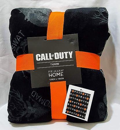 Licensed _ Primark Oficial Call Of Duty Negro Manta Polar 120cm X 150cm: Amazon.es: Hogar
