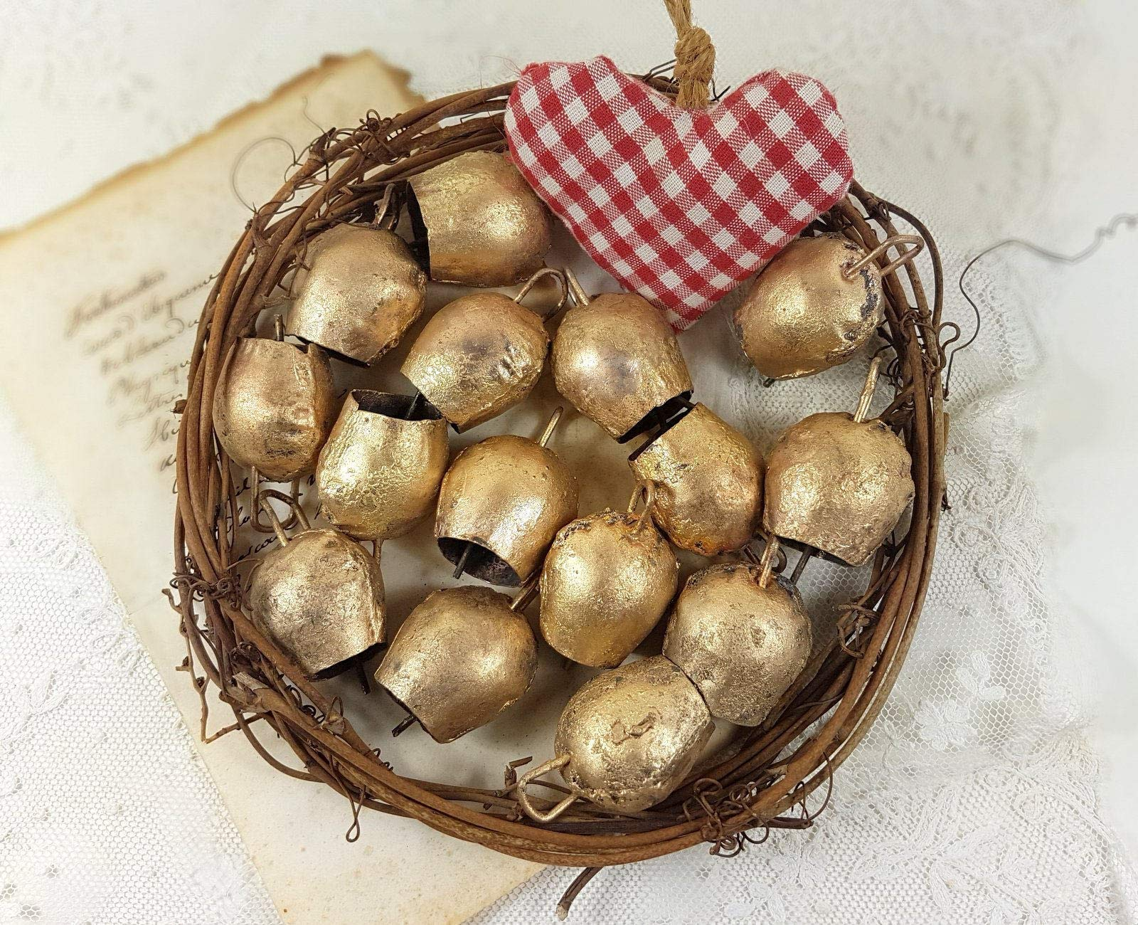 Mango Gifts 100 Pc Vintage Cow Bells with Metal Striker 2'' H by Mango Gifts