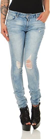 TALLA 25W / 30L. ONLY Onlcarmen Reg Sk Dnm Jeans Cry824 Noos, Mujer