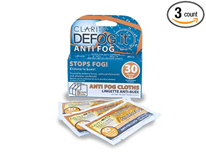 Amazon.com: Claridad defog it Anti-Fog 3 seco Toallitas ...