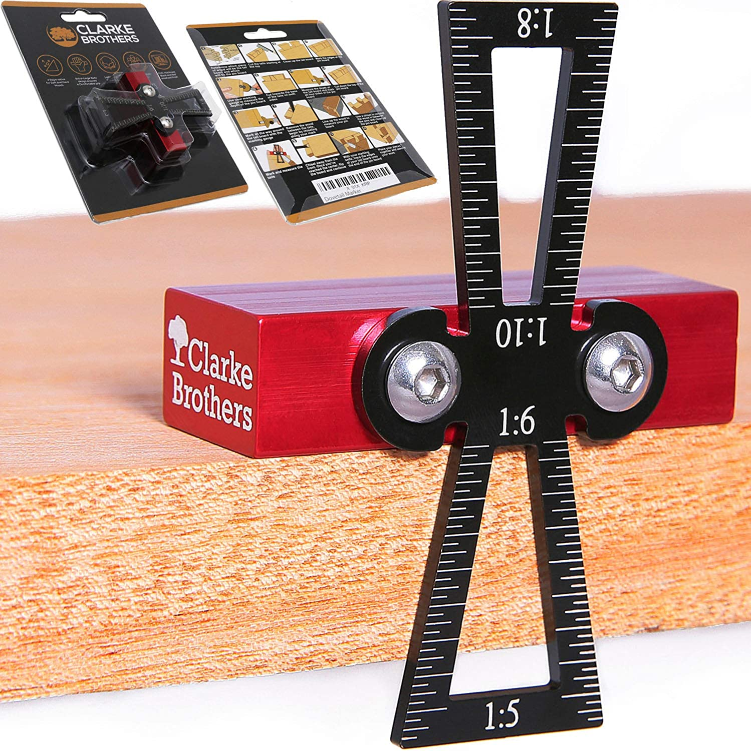 Clarke Brothers Professional Dovetail Marker for Woodworking