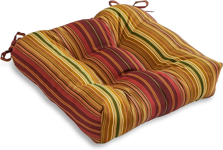 South Pine Porch AM4800-KINNIBARI Kinnabari Stripe Outdoor 20-inch Seat Cushion