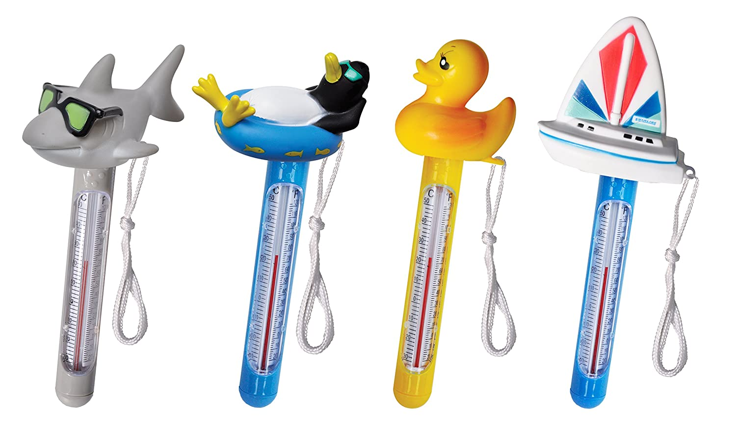 Solstice by International Leisure Products Hydro Tools 9225 Soft Top Floating Pool Thermometer, Single Assorted